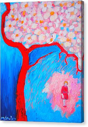 Canvas Print featuring the painting My Spring by Ana Maria Edulescu