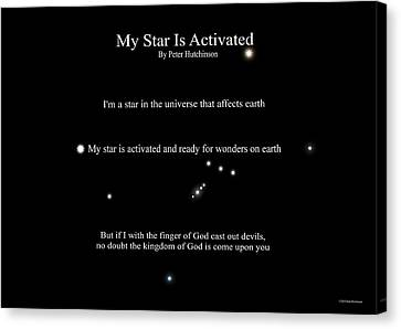 My Star Is Activated Canvas Print