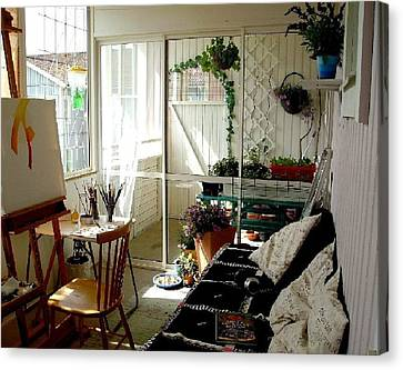 My Summer Studio Canvas Print by Carola Ann-Margret Forsberg