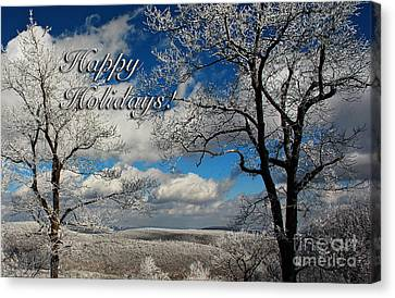 My Sunday Happy Holidays Card Canvas Print by Lois Bryan