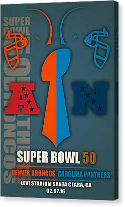 My Super Bowl 50 Broncos Panthers 4 Canvas Print by Joe Hamilton