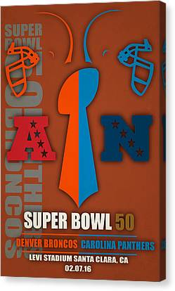 My Super Bowl 50 Broncos Panthers 5 Canvas Print by Joe Hamilton