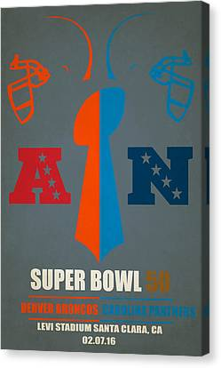My Super Bowl 50 Broncos Panthers Canvas Print by Joe Hamilton