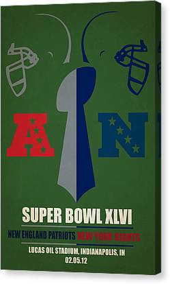 My Super Bowl Patriots Giants Canvas Print by Joe Hamilton