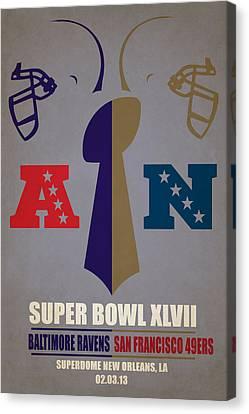 My Super Bowl Ravens 49ers Canvas Print by Joe Hamilton