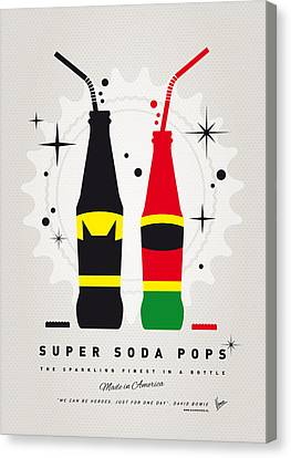 Captain America Canvas Print - My Super Soda Pops No-01 by Chungkong Art