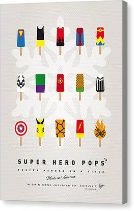 Captain America Canvas Print - My Superhero Ice Pop - Univers by Chungkong Art