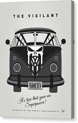 Captain America Canvas Print - My Superhero-vw-t1-punisher by Chungkong Art