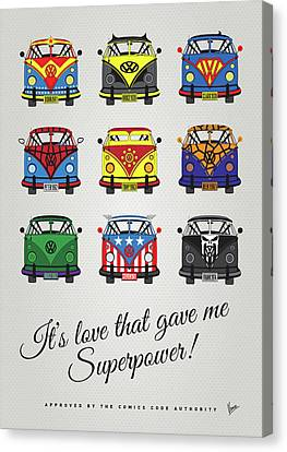 My Superhero-vw-t1-supermanmy Superhero-vw-t1-universe Canvas Print by Chungkong Art