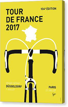 My Tour De France Minimal Poster 2017 Canvas Print