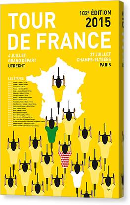 My Tour De France Minimal Poster Etapes 2015 Canvas Print by Chungkong Art