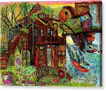 My Treehouse Paradise  Canvas Print