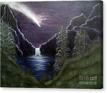 My Vision Of Haley's Comet Canvas Print