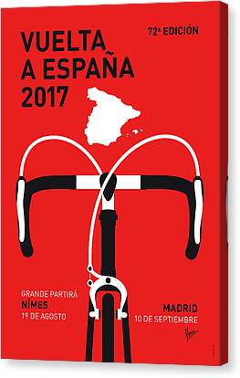 My Vuelta A Espana Minimal Poster 2017 Canvas Print by Chungkong Art