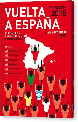 Competition Canvas Print - My Vuelta A Espana Minimal Poster Etapas 2015 by Chungkong Art