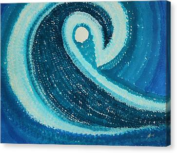 My Wave Original Painting Canvas Print