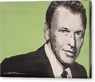 Old Blue Eyes Canvas Print - My Way - Frank Sinatra by Eric Dee