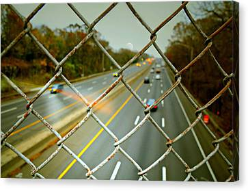 Traffic Control Canvas Print - My Way Or The Highway by Diana Angstadt