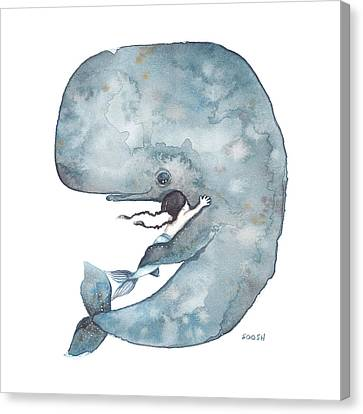 Beach Canvas Print - My Whale by Soosh