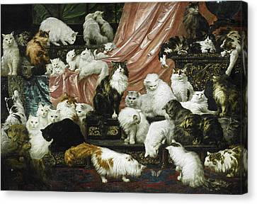 My Wife's Lovers Canvas Print by Carl Kahler