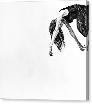 My Wings, 2015, 50-50cm, Graphite Crayon On Paper Canvas Print by Oana Unciuleanu