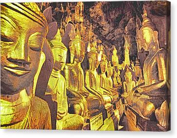 Myanmar Buddhas Canvas Print by Dennis Cox WorldViews