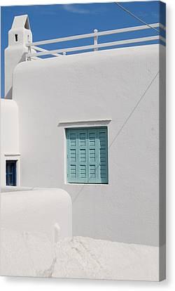Mykonos Blue In Blue Canvas Print by Armand Hebert