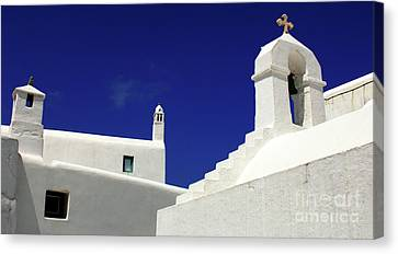 Canvas Print featuring the photograph Mykonos Greece Architectual Line 5 by Bob Christopher