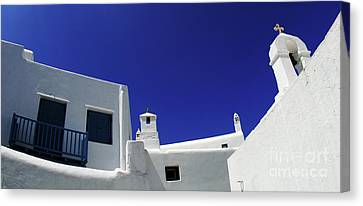 Canvas Print featuring the photograph Mykonos Greece Clean Line Architecture by Bob Christopher