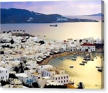 Mykonos Greece Canvas Print by Dean Wittle