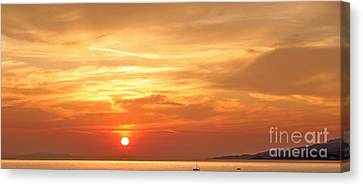 Mykonos Sunset Canvas Print by Madeline Ellis