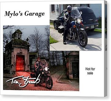 Mylo's Garage Canvas Print by Tom Straub