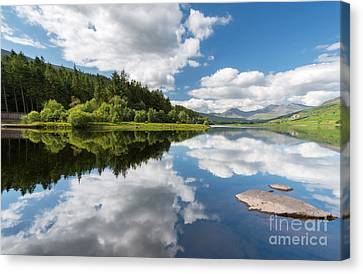 Mymbyr Lake Canvas Print by Adrian Evans
