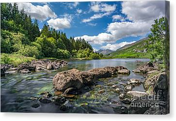 Mymbyr Lakes Canvas Print by Adrian Evans
