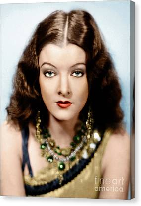 Canvas Print featuring the photograph Myrna Loy by Granger