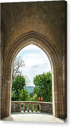 Myron Taylor Hall Archway Canvas Print by Optical Playground By MP Ray
