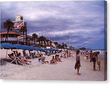 Myrtle Beach 1985 Canvas Print by Rodney Lee Williams