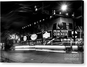 Myrtle Beach Boulevard Black And White Canvas Print by David Smith