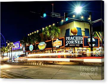 Myrtle Beach Boulevard Canvas Print by David Smith