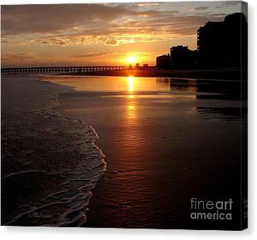 Myrtle Beach Sunset Canvas Print by Patricia L Davidson