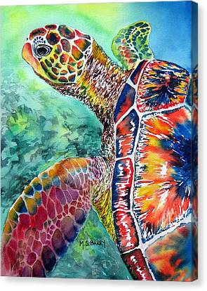 Myrtle The Turtle Canvas Print by Maria Barry