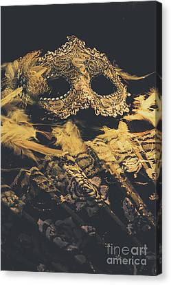 Hidden Face Canvas Print - Mysteries In Play Acting by Jorgo Photography - Wall Art Gallery