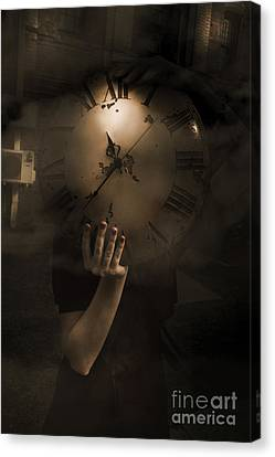 Mysteries Of Time Canvas Print