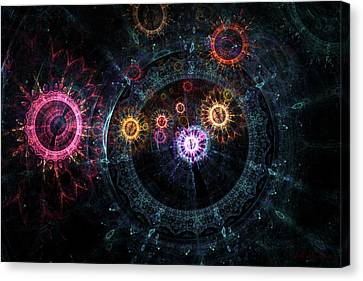 Mysterious Clockwork Canvas Print by Julian Ray