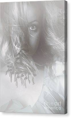 Mysterious Fine Art Fantasy Woman In Forest Mist Canvas Print by Jorgo Photography - Wall Art Gallery