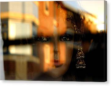 Mysterious Girl Canvas Print by Jez C Self