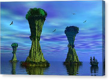 Mysterious Islands Canvas Print