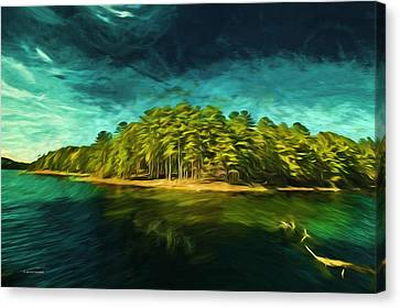 Mysterious Isle Canvas Print by Dennis Baswell