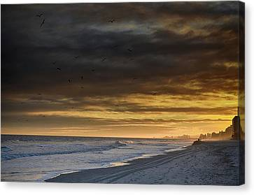 Canvas Print featuring the photograph Mysterious Myrtle Beach by Kelly Reber