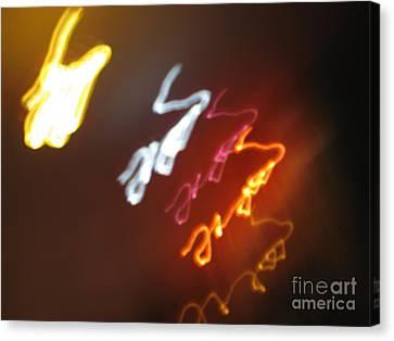 Canvas Print featuring the photograph Mysterious Signature by Ausra Huntington nee Paulauskaite